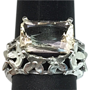 SALE 14k Natural Imperial Topaz Ring. FREE SIZING
