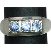 SALE 14k Tanzanite Men's Ring. FREE SIZING