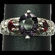 SALE 14k Spinel & Garnet Ring, Free Sizing