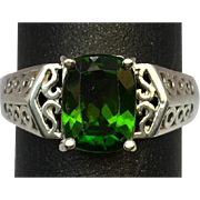 SALE 14k Crome Diopside Ring, Free Sizing.