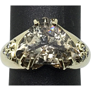 SALE 14k Yellow Gold, Imperial Topaz Ring.
