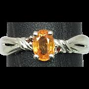 SALE 14k Mandaring Garnet Ring, FREE SIZING.