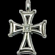 SALE 14k Diamond Cross, W-Y-R