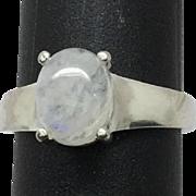 SALE 14k Moonstone Ring, FREE SIZING, W-Y-R