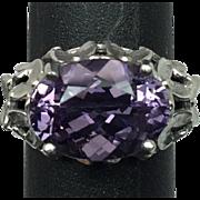 SALE 14k Amethyst Ring, FREE SIZING W-Y-R
