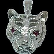 14k Ruby Tiger Pendant, W-Y-R