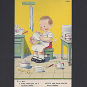 C.T. Children Comic Linen Postcard