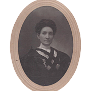 PHOTOGRAPH MARKED INDIAN TERRITORY OKLAHOMA OF WOMAN