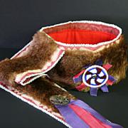 Native American Man's Otter Skin Turban Headdress