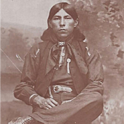 NATIVE AMERICAN INDIAN REAL PHOTOGRAPH OSAGE MAN