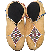 Native American Osage Man's Beaded Moccasins