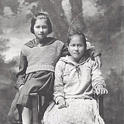 SOLD Native American Indian Photographs of Young Osage Girls