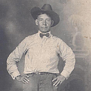 SOLD Native American Indian Real Photo Postcard Osage Man