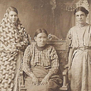 SOLD Native American Indian Photograph Three Women