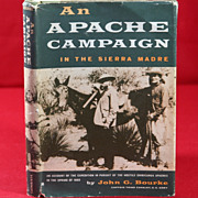 SOLD Native American Book, An Apache Campaign by John G. Bourke - Red Tag Sale Item