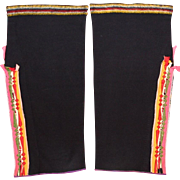 Native American Osage Woman's Double Sided Ribbonwork Leggings