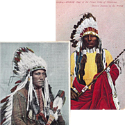 SOLD Kiowa and Ponca Native American Indian Warrior Post Cards