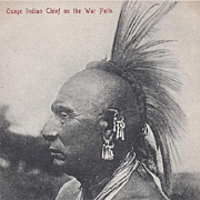 SOLD Native American Indian Portrait of an Osage Chief