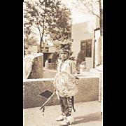 SALE REAL PHOTO NATIVE AMERICAN BOY DANCER POSTCARD
