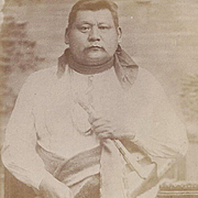 SOLD Native American Real Photo Postcard of Osage Man