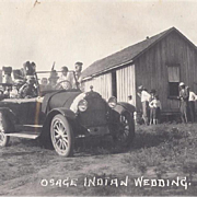 SOLD Native American Real Photo by Dillon of Osage Wedding