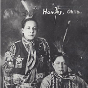 NATIVE AMERICAN INDIAN RPPC OSAGE MEN
