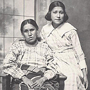 SOLD Native American Indian Photograph Osage Mother and Daughter