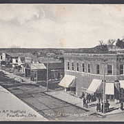 SOLD REAL PHOTO POST CARD PAWHUSKA, OKLAHOMA