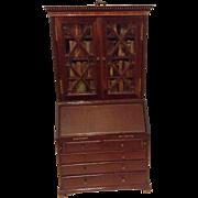Wonderful antique Victorian finely made miniature Georgian style mahogany slant front ...