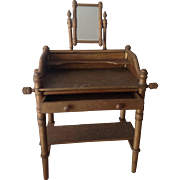 Antique French dolls dressing table circa 1890