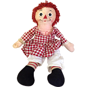 Vintage early Raggedy Ann doll in original clothing