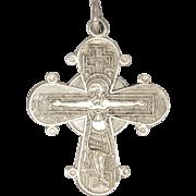 Scandinavian Modernist Silver Crucififix Cross