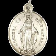 French 1884 Silver Motherhood Virgin Mary Medal