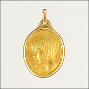 French Gold Filled FIX Child at Prayer Charm