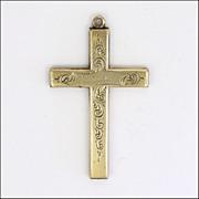 Antique 9K Gold Cased Engraved 'Reward of Merit' Cross