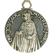 French PY Jesus & Sacred Heart Extra Large Medal
