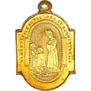 SOLD French 19C Our Lady of Salette Gold Filled Medal