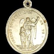 French 19C Guardian Angel & St. Joseph Medal - 12.7 grams - RARE!
