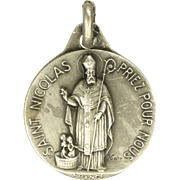 SOLD French Saint Nicholas Silver Medal - KARO