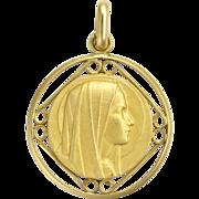 Fremch 18K Gold Plated Medallion Pendant