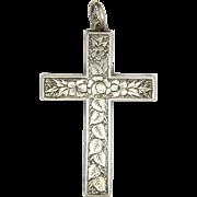 Victorian European 800-900 Silver Engraved Cross