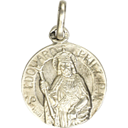 French St. Edouard  the King Silver Medal or Charm - PENIN
