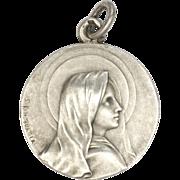 French  Circa 1900 Silver Virgin Mary Medal - S KINSEURGER