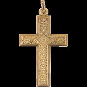 French 'MURAT' Gold Filled Decorative Cross Pendant