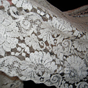 SOLD Lovely Early 19th Century French Blonde de Caen Silk Lace Wedding Veil
