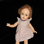 SALE Sweet early Composition Doll with original wig and dress