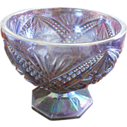 SOLD Imperial Purple Carnival Glass Pedestal Dish