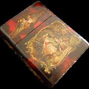 SALE Antique French Vernis Martin Love Letter Box