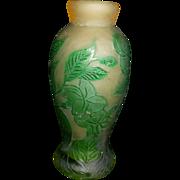 Antique French Galle Acid Etched Bud Vase
