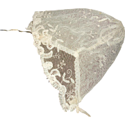 SOLD Victorian Lovely Tulle Lace Bebe Bonnet